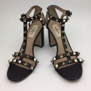 Valentino Rockstud Block Heel Sandal sz  5.5